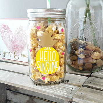 Hello Sunshine Tumbler (Glass Tumbler)