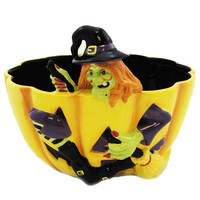 Halloween WITCH CANDY BOWL Ceramic CS004