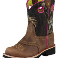 Ariat Girl's Fatbaby Cowgirl Boots - Brown/Mossy Oak Camo