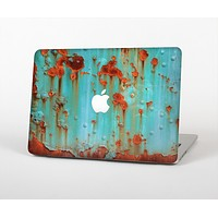 The Teal Painted Rustic Metal Skin Set for the Apple MacBook Air 11""