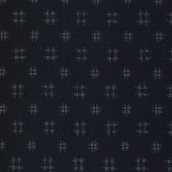 Well Curbs Tone on Tone Japanese Indigo Cotton Quilting Fabric JAP1310-12