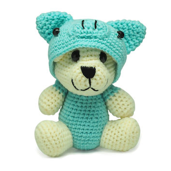 Rex Piggy Crochet Teddy Bear, Handmade Teddy Bears