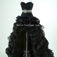 Black High Low Prom Dresses, Black High Low Prom Dress, Black High Low Evening Dresses