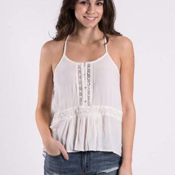 WOMENS SUMMIT STONE CAMI - WHITE