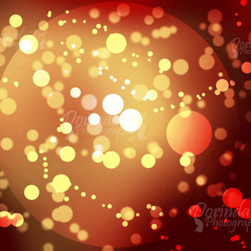 Abstract printable background print Yellow Red moon Galaxy bokeh Photo overlay Christmas overlay Sparkling Stars Wall decor Instant Download