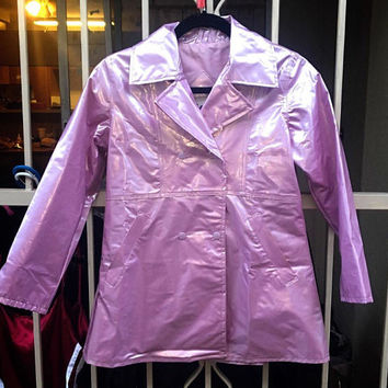 Romy and Michele pastel purple vinyl jacket