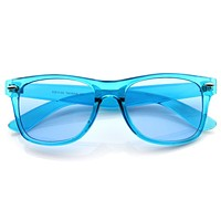 Transparent Party Candy Color Summer Horned Rim Sunglasses 8608