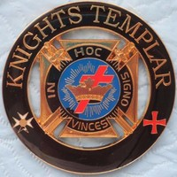 KNIGHTS TEMPLAR MASON IN HOC SIGNO VINCES Car Emblem Golden