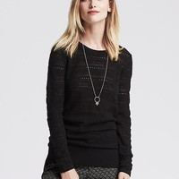 Banana Republic Womens Lace Stitch Pullover