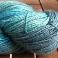 Greens - Superfine Australian Merino Wool (19.5 microns) 4 ply Fingering Weight Yarn 100gr