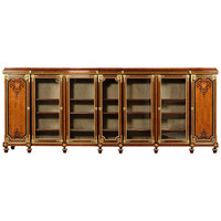 Very Large Gilt-Bronze Mounted Kingwood and Marquetry Bookcase