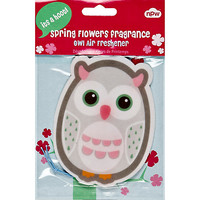 River Island Womens Owl spring flowers car air freshener