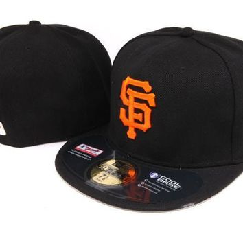 ESBON San Francisco Giants New Era MLB Authentic Collection 59FIFTY Hat Black-Orange