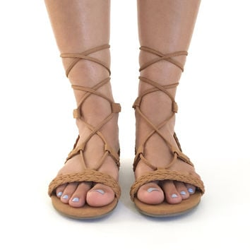 Tie It Up Sandals In Cognac