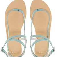 ASOS FINISH Leather Flat Sandals at asos.com