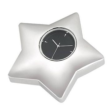 Personalized Free Engraving Silver Desk Star Clock