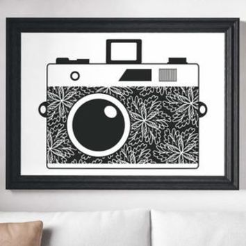 Camera Painting Poster Art Print Canvas Print Wall