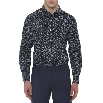 Delta Floral Print Slim Fit Casual Shirt