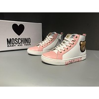 MOSCHINO Zip High VITELLO Women Shoes Pink