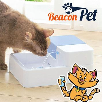 Pet Water Fountain Dog Automatic Electric Drinking Bowl Cat Water Dispenser 1.8L