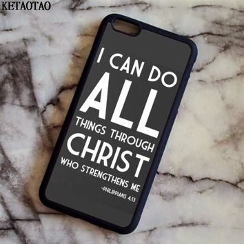 KETAOTAO Jesus - CHRIST CHRISTIAN cross Phone Cases for iPhone 4S 5C 5S 6S 7 8 Plus X for Samsung Case Soft TPU Rubber Silicone