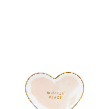 Kate Spade Posy Court Small Heart Dish Blush ONE