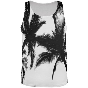 B Palm Trees All Over Adult Tank Top