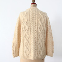 vintage 70's fisherman sweater