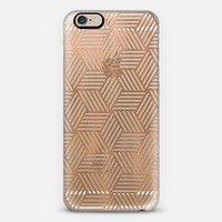 Rose Gold Abstract Cubes iPhone 6 case by Tracey Coon | Casetify