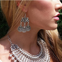 Gypsy Coin Drop Earrings