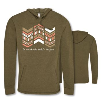 Southern Couture Be Brave Triblend Pullover Hoodie