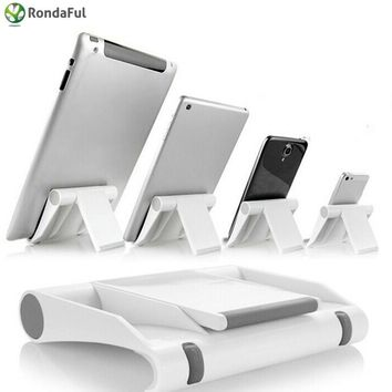 Universal Foldable Adjustable Cellphone Tablet Desk Stand Holder Smartphone Mobile Phone Bracket For Ipad Samsung Iphone 7/8/x Mobile Phone Accessories