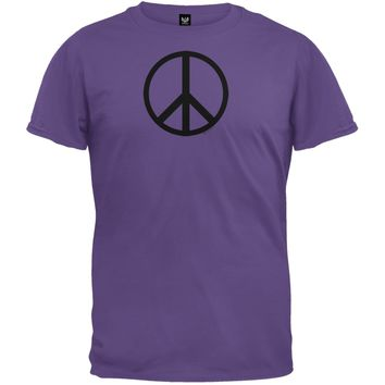 Peace Sign Eggplant T-Shirt