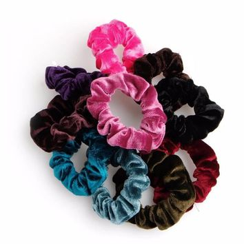 Velvet Style Pony-tail Hair Tie, All colors