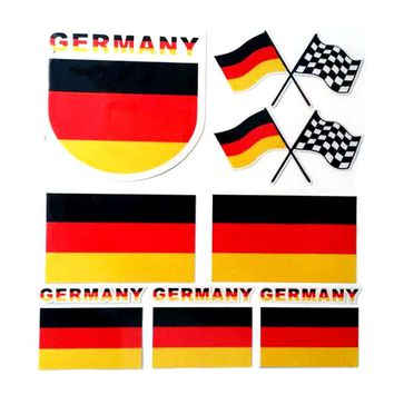 Automobiles Germany Flag Sticker For Audi For Bmw Mini for Mercedes Volkswagen Stickers on cars Decoration