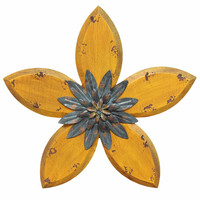 SHD0164 Stratton Home Decor Antique Flower Wall Decor