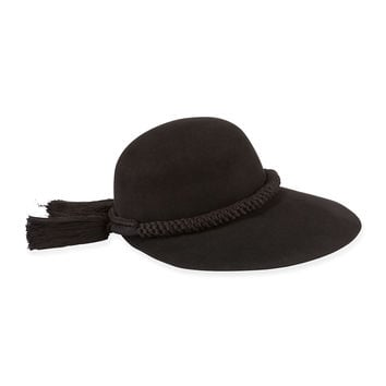 Long-Brim Hat w/Tassels, Black, Size: ONE SIZE, BLACK - Lanvin