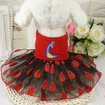 DCCKH6B Pet Dog Clothes Summer Puppy Chihuahua Poodle Dog Dress Skirt tutu Princess Costume Pet Apparel ropa para perros Pet Clothing