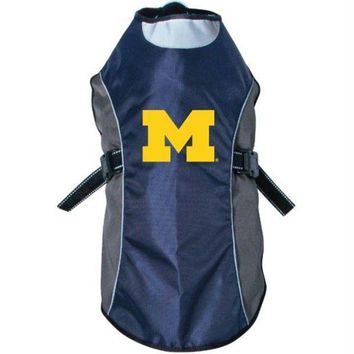 ESBONI Michigan Wolverines Water Resistant Reflective Pet Jacket