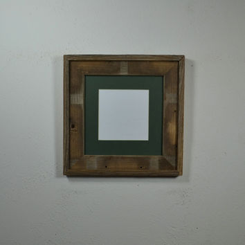 8x8 wood frame with mat for 5x5 or 6x6 handmade in the USA