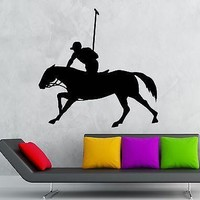 Wall Stickers Vinyl Decal Polo Horse Equestrian Sport Decor Unique Gift (ig1868)