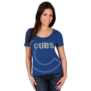 Majestic Chicago Cubs Women's Team Fanatic T-Shirt - Royal Blue