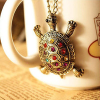 colorful cute little turtle necklace restoring ancient ways