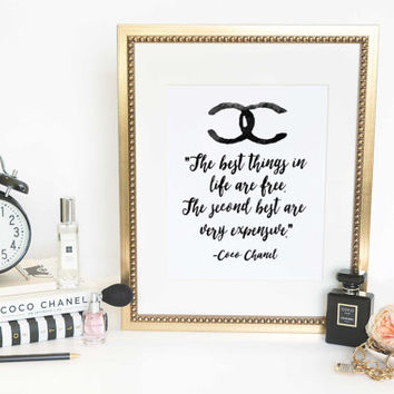 Printable Art Inspirational Print Coco Chanel Poster Coco Chanel Quote Typography Quote Home Decor Motivational  WATERCOLOR DOWNLOAD PRINT