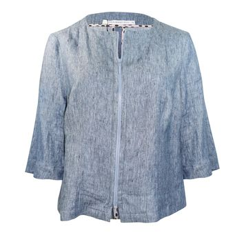 Chambray Jacket Plus Size