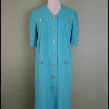 Vintage '80s Mint Green Wiggle Dress// M by StoriesForBoys on Etsy