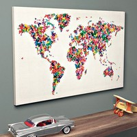 Butteflies World Map with discount code