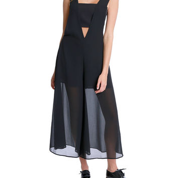 Up And Beyond Midi Jumpsuit - Black Chiffon