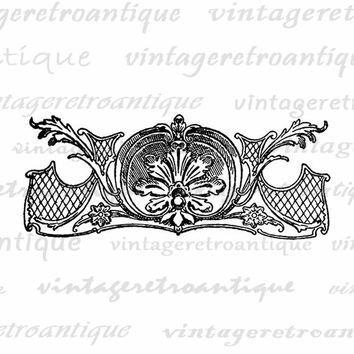 Floral Design Element Printable Graphic Image Digital Download Artwork Vintage Clip Art for Transfers Making Prints etc HQ 300dpi No.2086