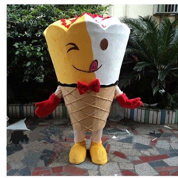 Kiss-me Ice Cream Mascot Costumes,Cosplay Costumes,Clothing for Adults,Costumes for Wedding,Proposal,Anniversary,Birthday in 2014 Summer